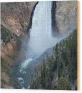 Yellowstone National Park Waterfalls Wood Print