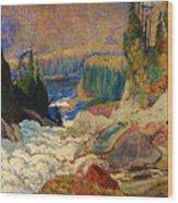 Falls - Montreal River Wood Print