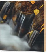 Falls Of Autumn Wood Print