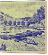 Falls Of The Schuylkill And Fort St Davids 1794 Wood Print