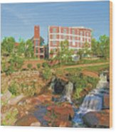 Falls Park Wood Print