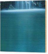 Falls Pool Wood Print