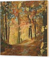 Fall's Radiance In Quebec Wood Print