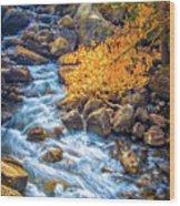 Fall's Rush To South Lake Wood Print