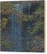 Falls Woodcut Wood Print