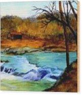 Fallsburg Ky Falls Wood Print