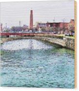 Fallswalk And Shot Tower Wood Print