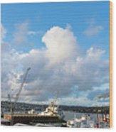 Falmouth Docks Cornwall Wood Print