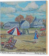 Falmouth Heights Beach On A Fall Afternoon Wood Print