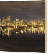 False Creek At Night Wood Print