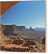 False Kiva Moab Utah Wood Print