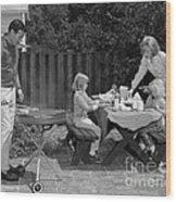 Family Bbq, C.1960s Wood Print