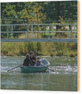 Family Boating If Forest Park Wood Print