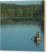 Family Fishing Wood Print