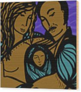 Family Is A Sanctuary Wood Print