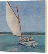 Family Sail Wood Print