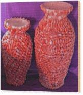 Family Vase Wood Print by Arlin Jules