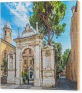 Famous Arc From Basilica Di San Vitale In Ravenna, Italy Wood Print