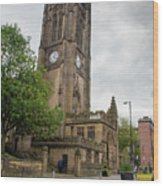 Famous Cathedral Of Manchester City In  Uk Wood Print