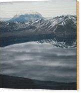 Famous Mountain Askja In Iceland Wood Print