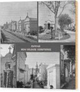 Famous New Orleans Cemeteries  Wood Print