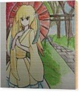 Fan Girl Wood Print