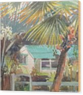 Fan Palm Wood Print