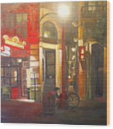 Fan Tan Alley Wood Print