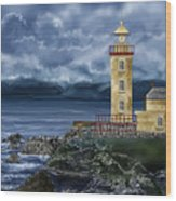 Fanad Head Lighthouse Ireland Wood Print