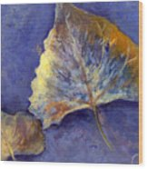 Fanciful Leaves Wood Print
