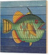 Fanciful Sea Creatures-jp3826 Wood Print