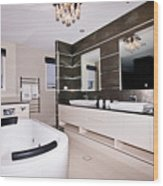 Fancy Bathroom Ensuite Wood Print