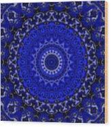 Fancy Cartoon Blues Wood Print