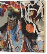 Pow Wow Fancy Dancer 1 Wood Print
