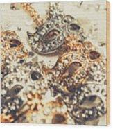 Fancy Dress Timepieces Wood Print