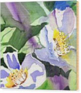 Fancy Flowers Wood Print