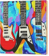 Fancy Guitars Wood Print