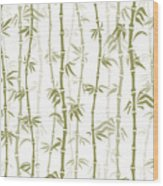 Fancy Japanese Bamboo Watercolor Painting Wood Print