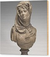 Fantasy Bust Of A Veiled Woman (marguerite Bellanger?) Wood Print
