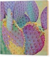 Fantasy Cactus Wood Print