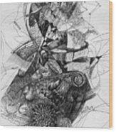 Fantasy Drawing 2 Wood Print