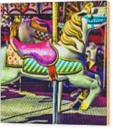 Fantasy Fair Horse Ride Wood Print