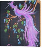 Fantasy Feather Bird Wood Print