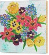 Fantasy Flowers #233 Wood Print