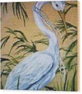 Fantasy Heron Wood Print