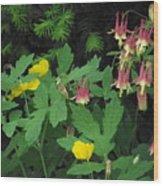Fantasy In Bloom Wood Print