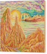 Fantasy Landscape Wood Print