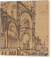 Fantasy On A Magnificent Triumphal Artch Wood Print