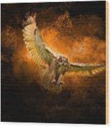 Fantasy Owl Wood Print