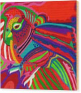 Fantasy Parrot Wood Print